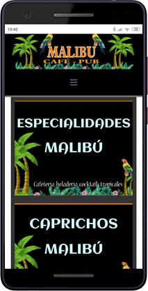 Carta Digital Qr - Malibú